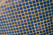 stock photo of tile cladding  - Full frame take of blue ceremic mosaic tiles
