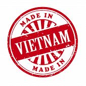 Made In Vietnam Grunge Rubber Stamp