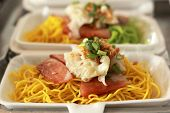 pic of egg noodles  - Chinese Style BBQ Pork with Egg Noodle