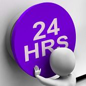 Twenty Four Hours Button Shows 24H  Availability