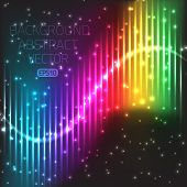 Abstract bright equalizer lines wallpaper background
