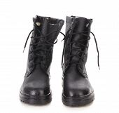 foto of work boots  - Pair of working boots - JPG