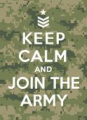 picture of army  - Keep calm and join the army - JPG