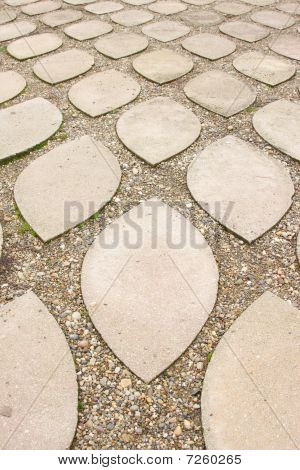 Paving Stones In The Castle Of Eger, Hungary