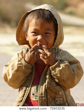Asian Children, Poor, Dirty Vietnamese Kid