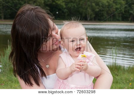 Mother Baby And The Flower