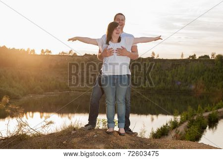 Young Couple Is Having Fun