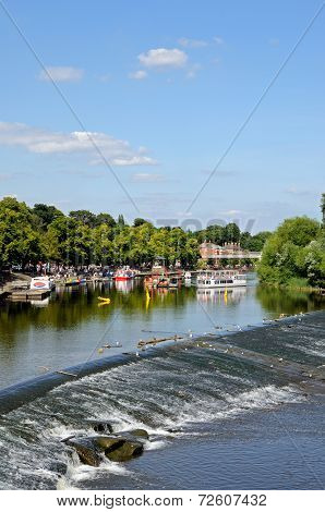 River Dee and weir, Chester.