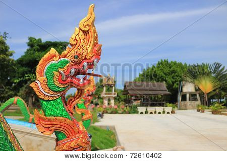 King of Nagas at Wat Kumkaeo