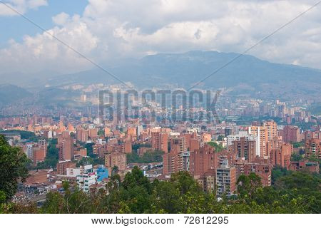 MEDELLIN, COLOMBIA - JANUARY, 19: View (cityscape) of Medellin Colombia