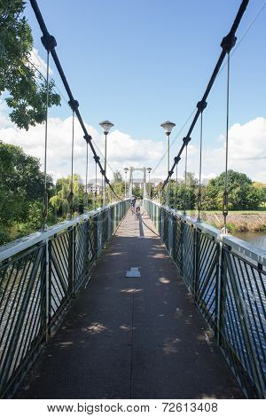 Suspeneded Cycle And Pedestrian Bridge