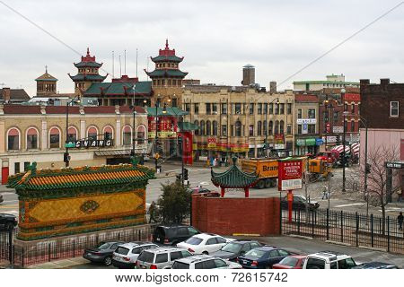 Aerial View Of Chicago Chinatown