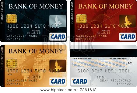 Credit Cards set