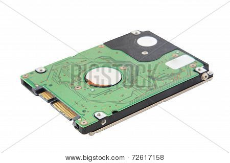 Laptop Harddisk Isolated On A White