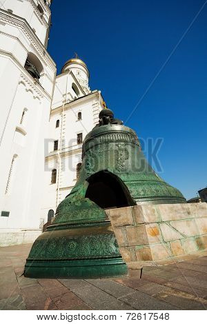 Tsar bell close up view in Kremlin, Moscow