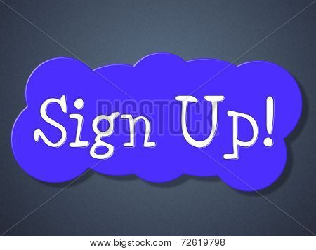 Sign Up Shows Apply Registration And Online