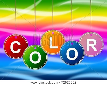 Paint Colorful Means Colours Multicolored And Multicoloured