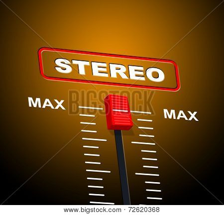 Stereo Music Shows Sound Track And Audio
