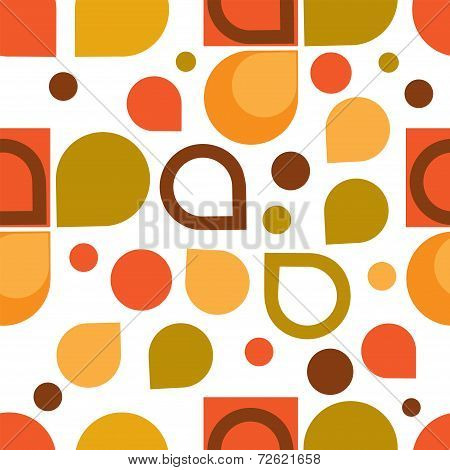 Abstract Retro Geometric seamless pattern. Illustration