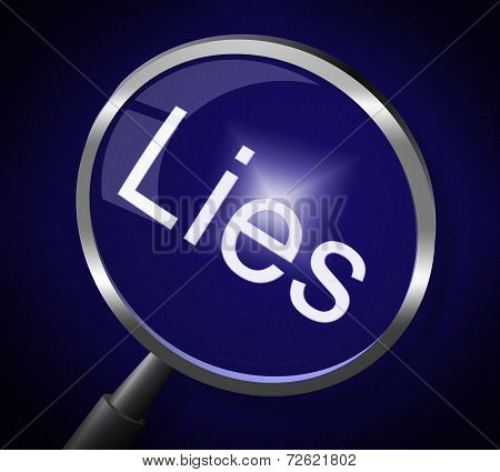 Lies Magnifier Represents No Lying And Correct