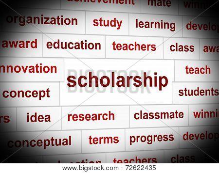 Scholarship Education Indicates Educating Train And Development