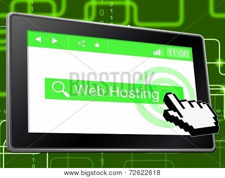 Web Hosting Indicates Internet Webhosting And Server