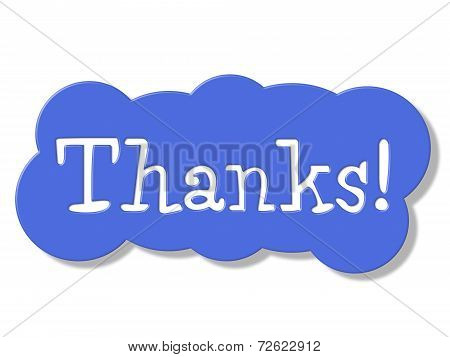 Thanks Sign Represents Advertisement Signboard And Placard