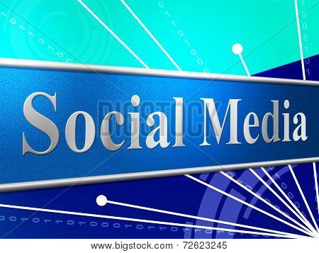 Social Media Shows News Feed And Forums