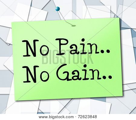 No Pain Gain Means Make Things Happen And Manage