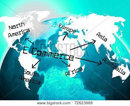 World E Commerce Indicates Ecommerce E-commerce And Company