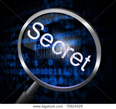 Secret Magnifier Means Search Confidential And Magnification