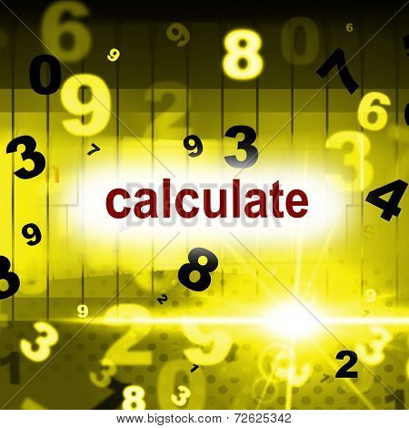 Calculate Counting Shows One Two Three And Calculation