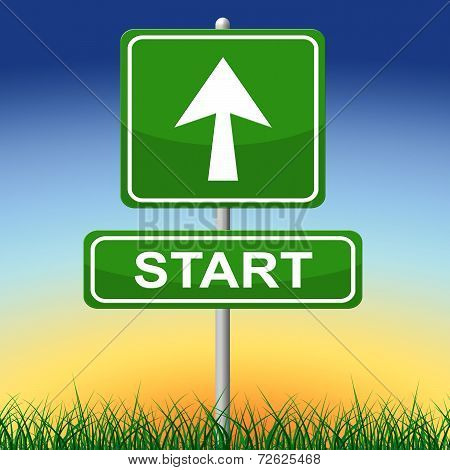 Start Sign Means Don't Wait And Action