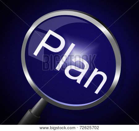 Plan Magnifier Means Recipe Research And Strategy