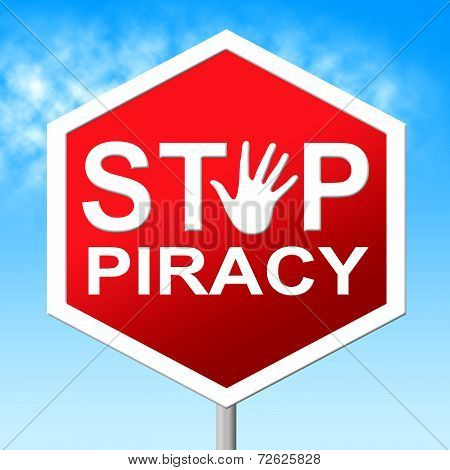 Piracy Stop Means Copy Right And Caution