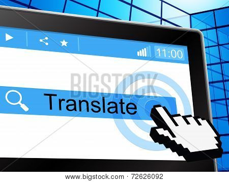 Translate Online Indicates Convert To English And Language