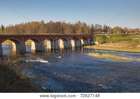 Old brick bridge in Kuldiga, Latva