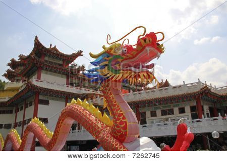 Dragon lantern at the temple.