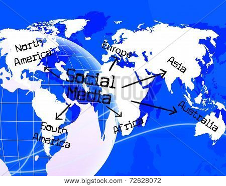 Social Media Indicates World Wide Web And Blogs