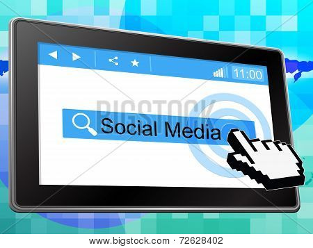 Social Media Indicates News Feed And Blogs