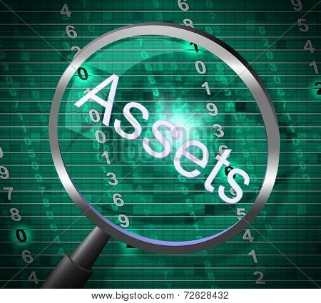 Assets Magnifier Represents Magnify Searching And Property