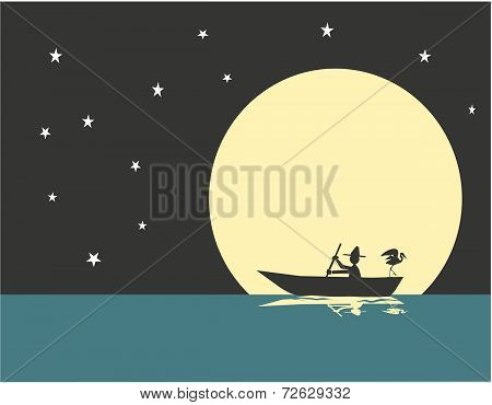 Man On A Boat_moon
