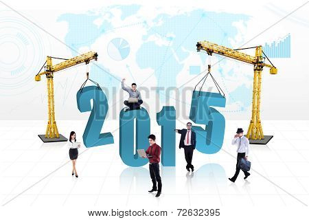 Busy People With Number 2015