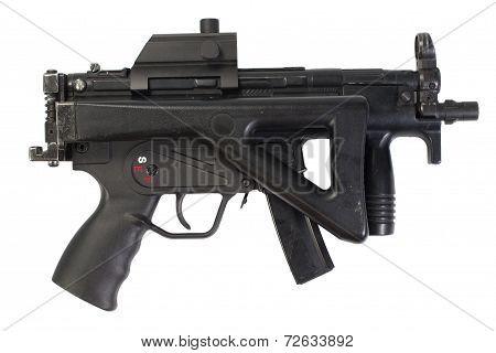 german submachine gun isolated on white background