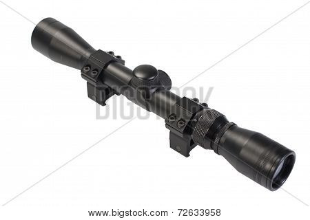 Rifle Scope Isolated On White