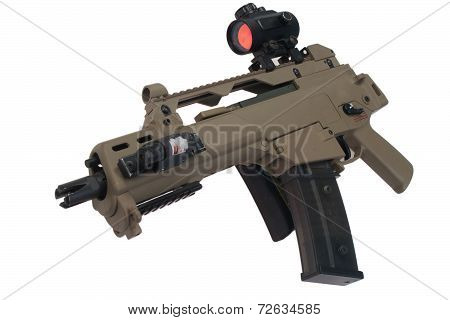 Assault Rifle Isolated On White Background