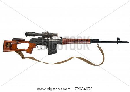 Soviet Army Sniper Rifle With Optic Sight