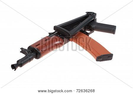 Short Kalashnikov Aks74U Isolated On A White Background