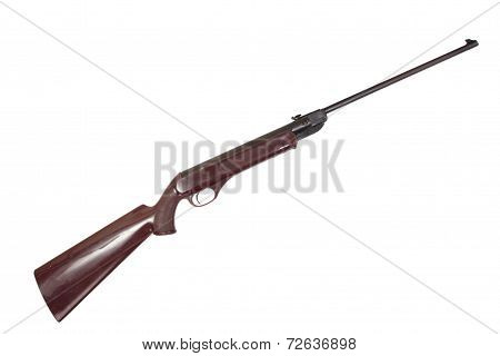 Old Pneumatic Air Rifle Isolated On White Background