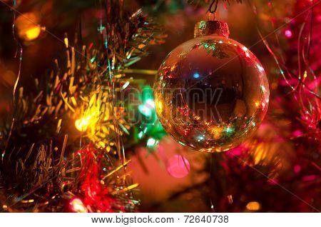 Christmas Ornament Hanging On A Christmas Tree